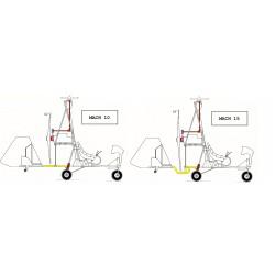ACLARATORIO: Entre Mach 10 y Mach 15, la única diferencia es la quilla del chasis.